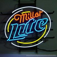Hot Miller Lite Beer Neon Bar Pub Assista Comercial Custom Neon Light Sign Store Display Discoteca KTV Sign Real Glass Tube 17