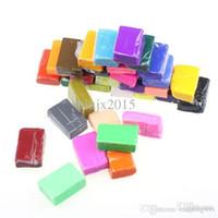 Wholesale Fimo Polymer Blocks - Wholesale-Fashion 32 pcs DIY Malleable Fimo Polymer Modelling Soft Clay Blocks Plasticine kids toy Anne