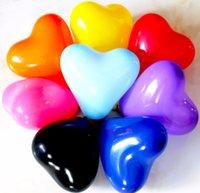ingrosso gli aerostati a forma di cuore trasporto libero-La forma del cuore Balloons Trasporto all'ingrosso all'ingrosso Pearlecent dei palloni del lattice della decorazione di giorno di Natale