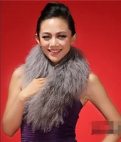 Wholesale Sheepskin Scarves - Wholesale-Mongolian sheepskin fur scarf wrap cape shawl stole poncho cape collar