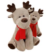 Wholesale deer plush doll - Dorimytrader pop Christmas deer plush toys stuffed soft lovely anime reindeer decoration doll 65cm for kids Xmas present DY61866
