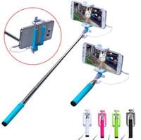 ingrosso treppiede galassia-Handheld Camera Selfie Stick per iPhone 6 6s Plus 5 5s per Samsung Galaxy S4 S5 S6 S7 monopiede Edge Mini monopiede treppiede Monopiede