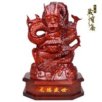 carving wood spirits - Factory direct and retail wood carving dragon feng shui ornaments Lucky Dragon Chinese Zodiac Dragon Spirit Dragon Woo