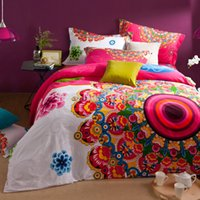 Wholesale duvet cover brush - Wholesale-2016 New Arrival New 40s Comforter Bohemian Bedding Set Boho Style Moroccan Bed Duvet Cover 100% Brushed Cotton