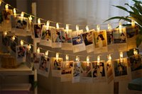 Wholesale wedding cards photos - LED String Lights Novelty Fairy Lamp Starry Battery Card Photo Clip Luminaria Festival Christmas Wedding Decoration