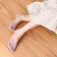 Wholesale Foot Odor - Wholesale-Cotton plain invisible fingers (toe) socks to prevent foot odor beriberi socks anti-foot Xian