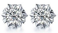 Wholesale Arrow Flowers - New Arrival Snowflake Earrings 925 Sterling Silver Hearts and Arrows Hypoallergenic crystal Stud Earrings for Women Jewelry