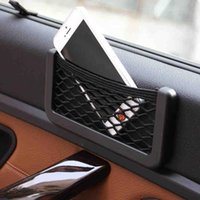 Wholesale Cheap Seats For Cars - Wholesale Cheap Cost Car Seat Side Back Sticky Storage Net Holder For Mobile Phone Car Mesh Net Holder with 3M Sticker