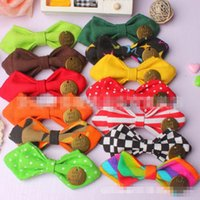 Wholesale Kids Safety Pins - Casual Tie New Kids Vintage Pendant and Cotton Bow Tie Fashion Children Cute Polka Dot and Safety Clasp Pin Necktie