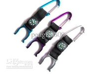 Wholesale Water Bottles Clips - Carabiner Clip Water Bottle Holder Camping Compass Snap hook clip-on outdoor