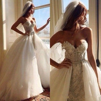 Wholesale Empire Waist Organza Dress - 2016 New Fabulous Beading Crystals Empire Waist Wedding Dresses with Detachable Ball Gown Train Arabic Sexy Sweetheart Vestidos De Noiva