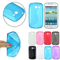 Wholesale Galaxy Trend Gel Cover - Wholesale-S-Line Case Cover Gel For Samsung Galaxy Fresh Lite Trend Duos GT S7390 S7392