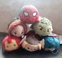 black widow screen - 2016 MINI Tsum Tsum Marvel Plush Toy Thor Captain America Iron Man Spider Man Hulk Black Widow Tsum Tsum Screen Cleaner vcbf7