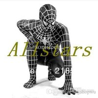 Anime Costumes spiderman game for kids - Halloween costumes for kids boys black Spiderman costume for Child super Hero Cosplay Spandex zentai Full bodysuit kids D