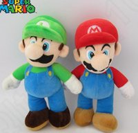 Wholesale Super Mario Bros Stuffed Animals - 25cm Stuffed Animal Toy Super Mario Mario Mushroom Plush Toys Doll Super Mario Bros. Mario & Luigi Plush Doll KKA29 100pcs
