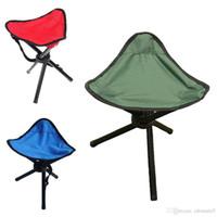 taburete de trípode al por mayor-3 patas trípode plegable taburete silla acampar al aire libre senderismo plegables picnic pesca Triángulo asiento trípode ultraligero plegable silla