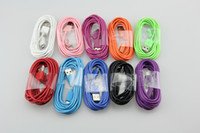 Wholesale Charger Mobile Phone Galaxy S4 - 500pcs Colorful Micro 5pin USB data sync Charger Cable For Samsung Galaxy S4 S5 S6 S7 SIII Xperia S HTC One X Blackberry ALL Mobile Phone