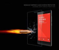 nota protector de pantalla espejo al por mayor-Protectores de cristal moderados de la pantalla del teléfono móvil de la Anti-huella digital de HD para los protectores de la pantalla de espejo de la nota de RedMi MOQ: 10pcs liberan el envío