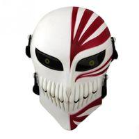Wholesale bleach ichigo full cosplay online - Plastic Death Ichigo Kurosaki Bleach Mask Dance Masquerade Party Cosplay Halloween Full Face Mask PC
