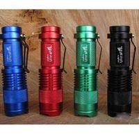 Wholesale Cree Adjustable Focus Flashlight - Ultrafire 300LM CREE Q5 3-Mode LED Camping Flashlight Torch Adjustable Focus Zoom waterproof flashlights Lamp(4 color)