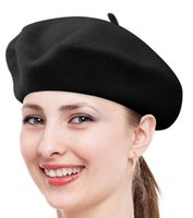 Wholesale Black Berets Wool - New arrive Spring Autumn woman Wool beret hats Princess hat Caps MOQ:50PCS DHL Free shipping