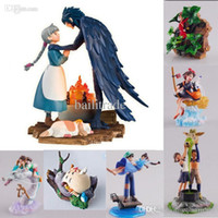 Wholesale Howls Moving Castle Toy - Wholesale-Hayao Miyazaki Hayao 9 Styles Cartoon Display Dolls The borrowers KiKis Delivery Service Porco Rosso Howls Moving Castle Toy