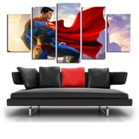 5 Pannelli Superman Hero Moderna Astratta Tela Pittura A Olio Stampa Wall Art Decor for Living Room Home Decoratio