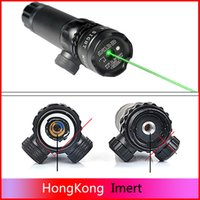 Wholesale Tactical mw Red Laser Sight Rifle Scope Riflescope Green Red Dot Laser Sight Designator mm Mount Tail Switch For Hunting