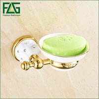 Wholesale Soap Dishes Ceramic - Free Shipping Crystal &Brass &Ceramics Bathroom Accessories Soap Holder Crystal Metal Soap Dishes