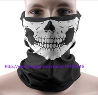 DHL Freeshipping 50pcs Skull Design Multi Function Bandana Ski Sport Moto Biker Scarf Masques faciaux Masque facial
