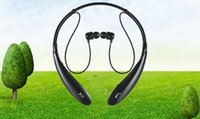 Wholesale Gadgets Ear - mobile PC gadget wireless bluetooth enabled stereo headset with neckband style for iphone, Samsung, HTC with retail package
