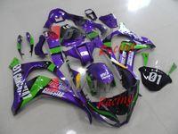 ingrosso dono gratuito kawasaki-spedizione gratuita + 8 regali + adesivi + Luci lampeggianti colorate + Super brillante LED decalcomanie iniezione carene Set carrozzeria Kawasaki Ninja ZX10R 201
