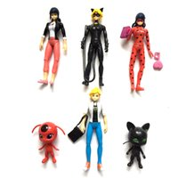 Compra Luce Di Natale Di Vinile-Miraculous Ladybug Comic Ladybug Girl Doll con luce Action Figure Giocattoli Cute Vinyl Anime Toys for Children Regali di Natale