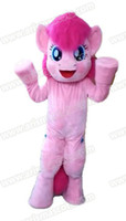 Wholesale Theme Park Mascot Costumes - 100% Real Photos Lovely Little Pony Pinkie Pie mascot costume Mascotte Mascota for Kids Party Theme Park Entertainment Fur mascot