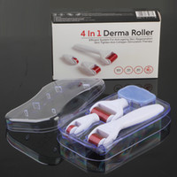 Wholesale Derma Roller Heads - 4 in 1 Derma roller Stainless Titanium Alloy needles DRS Derma Roller With 3 head(1200+720+300 needles) Derma roller Kit for acne removal