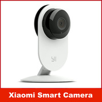 ingrosso telecamere a microfono costruite wireless-Telecamera Xiaomi Smart CCTV originale Piccole formiche Webcam intelligente Wireless IP Camcorder WiFi Microfono incorporato Videocamera Xiaomi yi