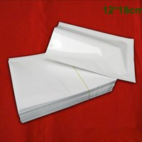 Wholesale 600pcs / Lot 12 * 18cm Open Top Blanc Mylar Aluminium Foil vide Seal Heat Seal Packaging Bag Café Thé Confiserie pochette de rangement