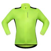 ingrosso maglia manica lunga bicicletta riflettente-WOSAWE New Long Sleeve Maglie da ciclismo Rear riflettente Tabs MTB Bike Bicicletta Wind Jerseys Protect Giacche Abbigliamento ciclismo