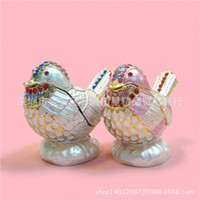 Wholesale Russian Jewelry Box - C creative gifts home furnishing decoration Animals Birds Photography Props Russian jewelry box