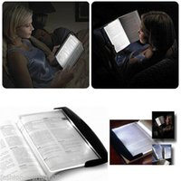 Lamp gros-Paperback Night Vision Voyage Reading Book Page LED Light Panel Wedge wedge Panel livre lampe de lecture Broché Nuit