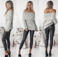 Mujeres Otoño e Invierno Sexy Paneled Standard Split ends Sweater Jacket Ladies