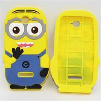 Wholesale Despicable S4 Mini - 3D Despicable Me 2 soft silicone case more minions for iphone 4 4S 5 5S 5C 6 PLUS Samsung galaxy S3 S4 S5 S6 mini note 3 2 ipod touch 4 5