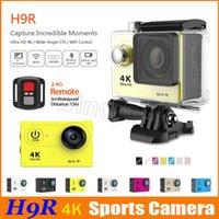 ingrosso dv telecamera remota-Telecamera d'azione H9R 4K originale Schermo LCD da 2 pollici Wifi impermeabile Sport DV 1080P 60fps Telecomando grandangolare 170 gradi 20