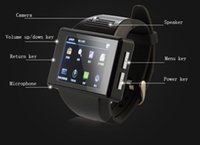 Wholesale Wifi Smart Watches - Android Smart Mobile Phone Watch An1 Quardband SIM Touch Screen Handwriting MP3 MP4 FM Radio GPS WIFI Handsfree Camera Messaging