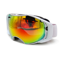 Wholesale Ski Goggles Orange - Ski Glasses Double Lens UV400 Anti-fog Ski Goggles Snow Skiing Snowboard Motocross Goggles Ski Masks or Eyewear