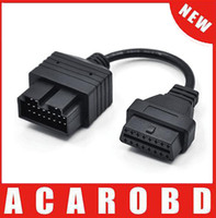 Wholesale Dlc Obd2 Cable - KIA 20 Pin 20Pin Male to OBD OBD2 OBDII DLC 16 Pin 16Pin Female Car Diagnostic Tool Adapter Converter Cable