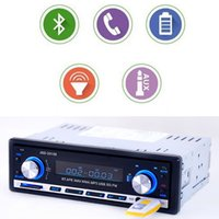 Wholesale stereo amplifier 24v - Free shipping Bluetooth Stereo Head Unit Player car radio MP3 USB SD AUX-IN FM MMC Port Car Electronics In-Dash 1 DIN