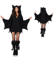 Wholesale Vampire Bat Costumes - Wholesale-2015 Halloween Vampire Bat costume girl Catwoman Cosplay masquerade UNIFORM Halloween cosplay