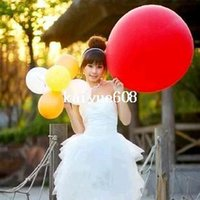Wholesale 24 Inch Balloons - 36 inch Balloon Advertising Balloon 24 g thickness latex balloon for party or festivel 50pcs lot