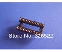 16 pin ic socket achat en gros de-50pc/Lot 16 Pin 2,54 mm Pitch DIP IC Sockets rond Pin livraison gratuite
